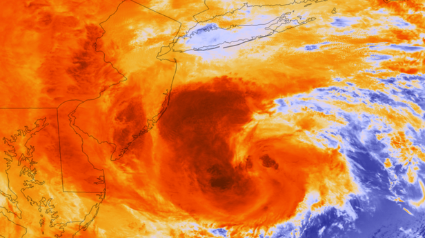 Suomi NPP Satellite image of Hurricane Sandy
