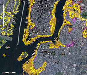 Seal Level Rise Tool for Sandy Recovery Map